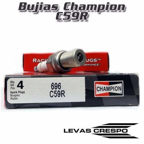 Set de 4 Bujías Champion Racing C59R 696 14mm Nitro Turbo