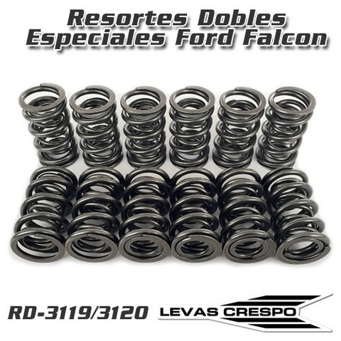 Resortes de Válvula Dobles Especiales para Ford Falcon 55/140 kgs