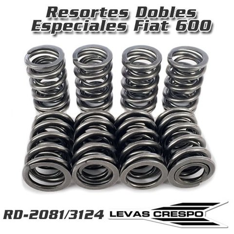 Resortes de Válvula Dobles Especiales para Fiat 600 850