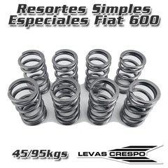 Resortes Simples Especiales para Fiat 600 850