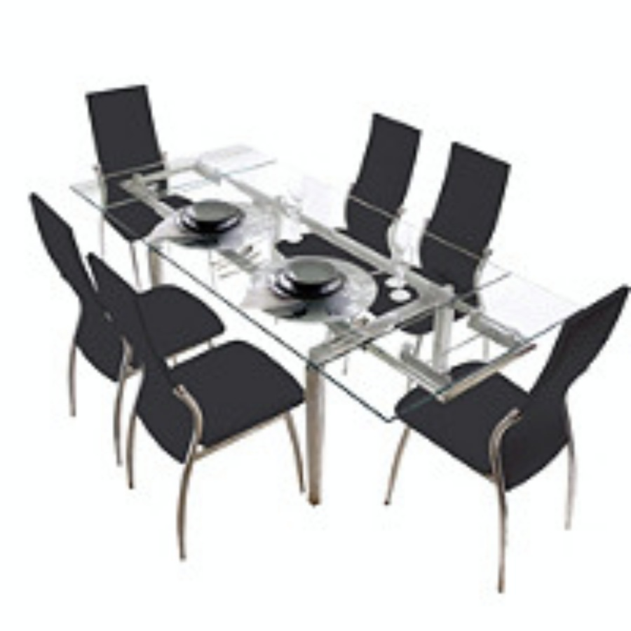 juego de comedor mesa extensible a m sillas viena negras