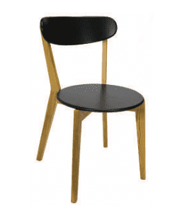 silla linea nordica importada modelo honi negra