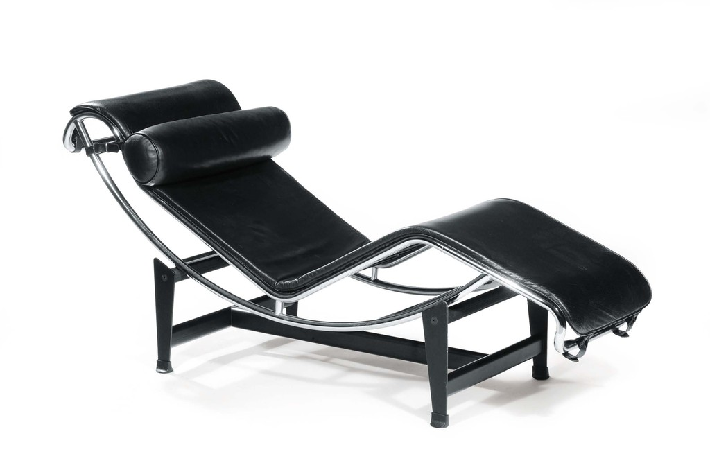 sillon lc4 le corbusier chaise longue negro. Black Bedroom Furniture Sets. Home Design Ideas