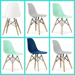 Silla Eames DSW Full Color Pack x 6 unidades