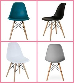 Silla Eames DSW Full Color Pack x 4 unidades
