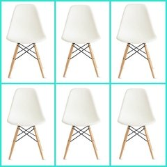 Silla Eames DSW Full Color Pack x 6 unidades - INTEGRAL DECO