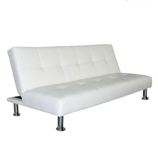 Futon blanco modelo napa sofa de 3 cuerpos cama de 1 plaza for Sofa cama de 1 plaza