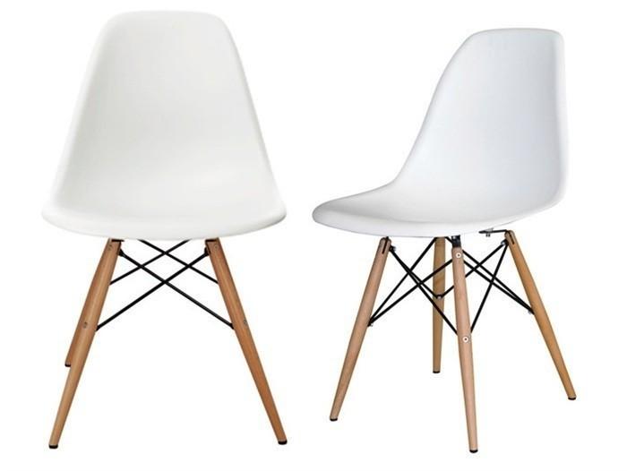 juego de comedor mesa kiev xm sillas eames dsr linea escandinava