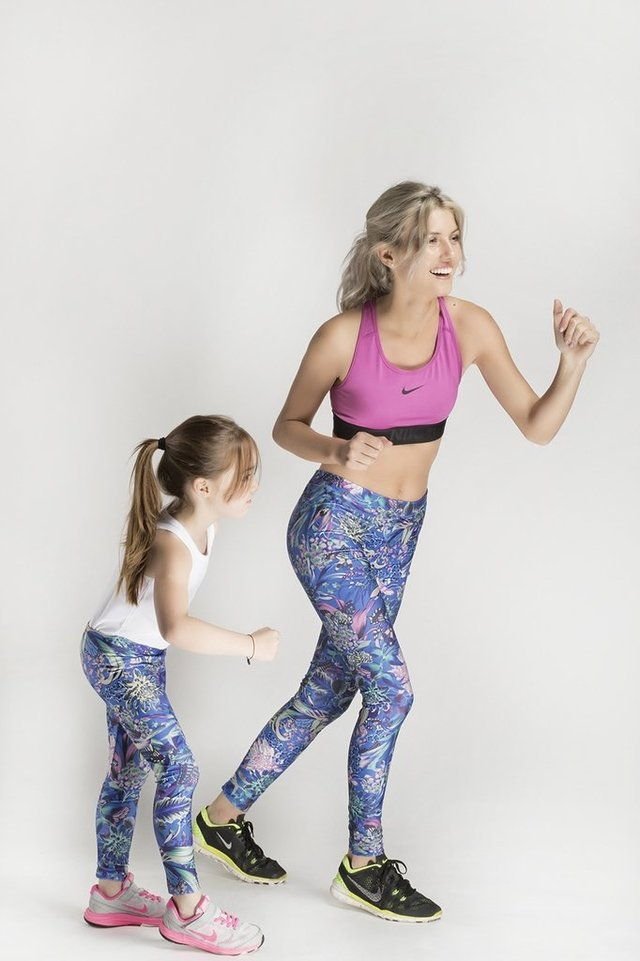 Leggings Deep Jungle Blue