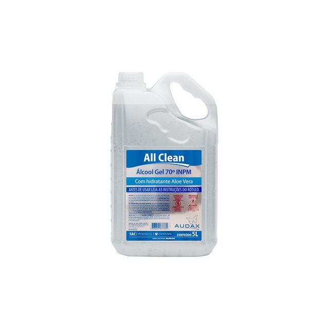 Alcool Gel Antisseptico 70º 5 litros - All Clean