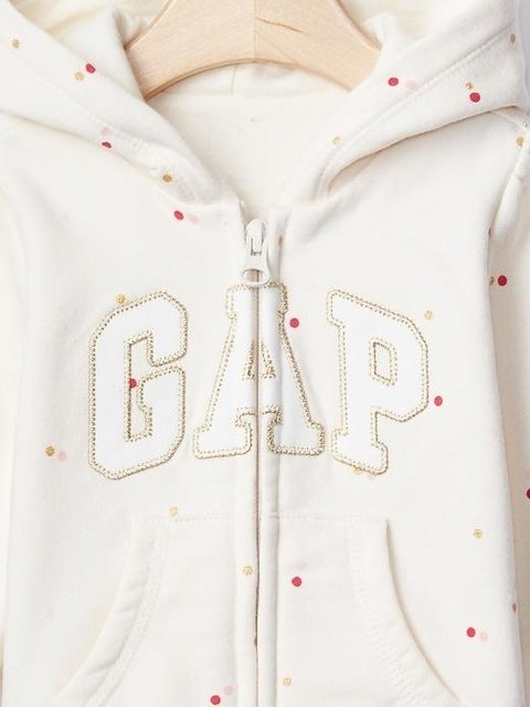 Moletom Fleece Baby GAP Logo Glitter na internet