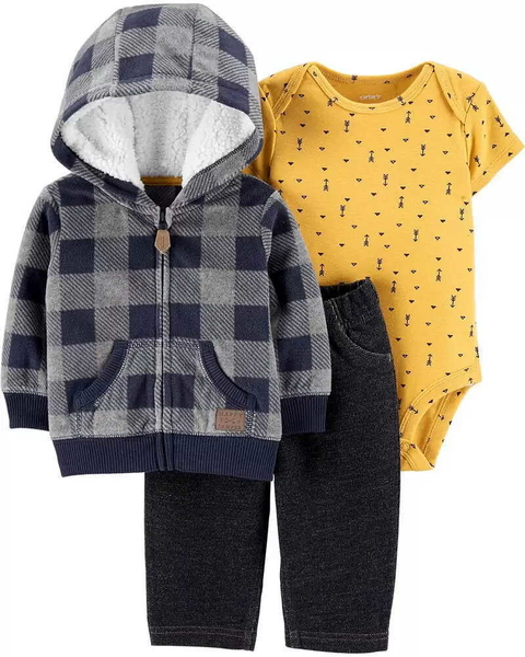 Conjunto Carter's Fleece Xadrez