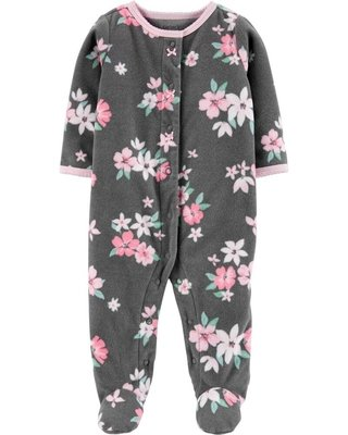 macacao carters fleece plush floral