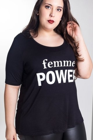 R960/1 Syes, Remera Femme Power, Talles grandes