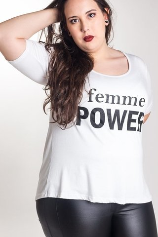 R960/1 Syes, Remera Femme Power, Talles grandes - Avellaneda Moda