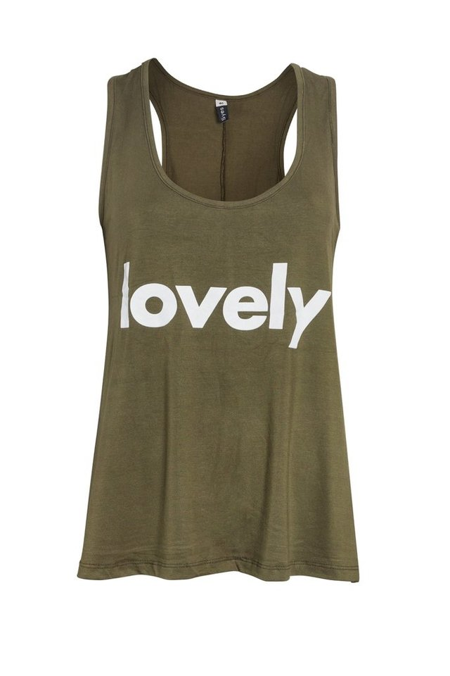 B638/8 Syes, Musculosa con vuelo estampada Lovely, Talles grandes