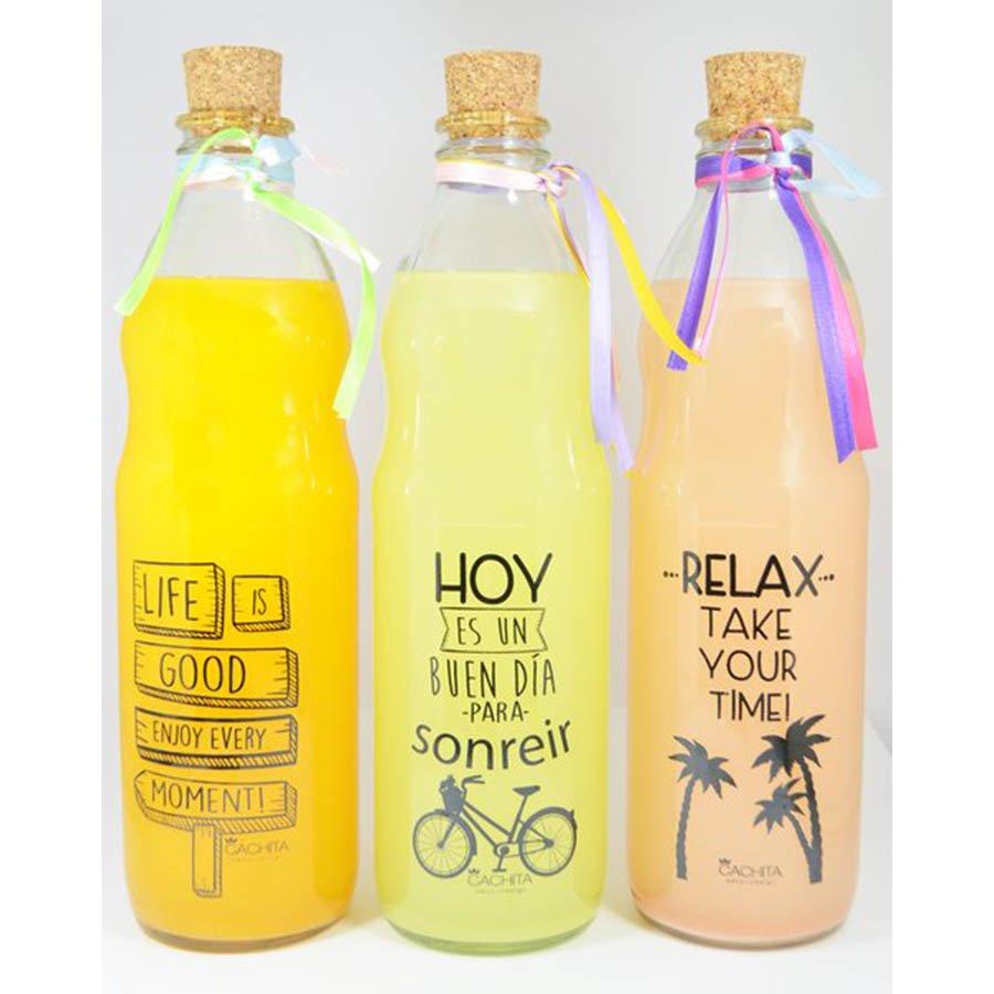 Botellas de vidrio transparente oki regalos - Botellas de vidrio para regalo ...