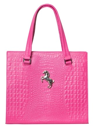 MEDIUM CAROL CROCO FUCSIA