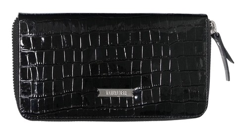 BILLETERA CASDY CROCO NEGRO