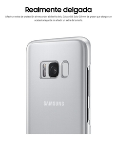 Funda Samsung Clear Cover Galaxy S8+ Original Silver