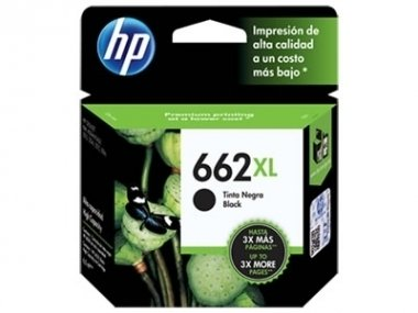 Cart HP negro original  - HP 662 XL