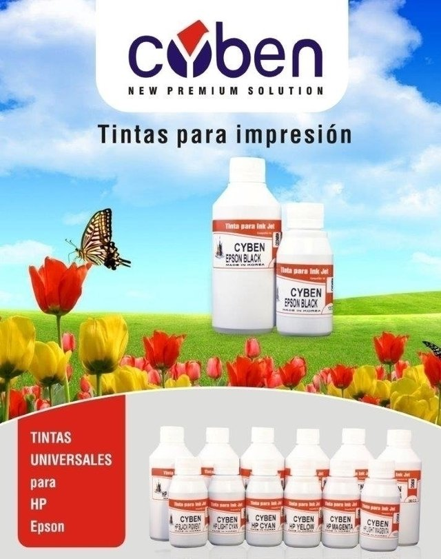 TINTA CYBEN AMARILLA  X 100ML PARA HP (MADE IN KOREA)