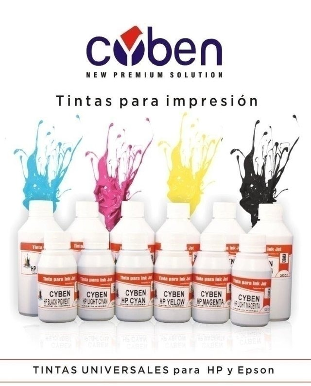 TINTA CYBEN AMARILLA  X 100ML PARA HP (MADE IN KOREA)       - comprar online