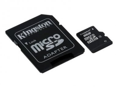 MICRO SD  KINGSTON 8 GB +1 adaptador