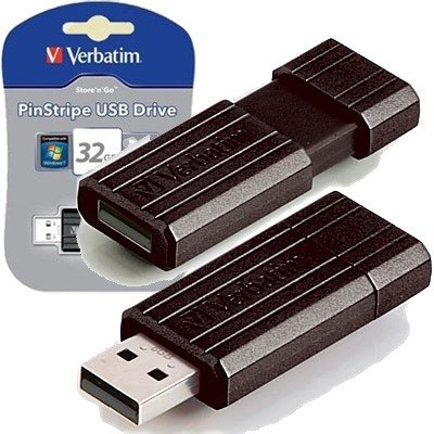 PENDRIVE VERBATIM 32GB Pinstripe
