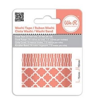 WeR Memory Keepers.  Cinta decorada  Washi Tape CORAL