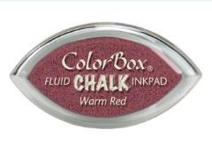 Tinta COLORBOX tipo CHALK, de Clearsnap - Color    WARM RED