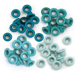 WeR Memory Keepers ojalillos para Scrapbooking - Color: Aqua
