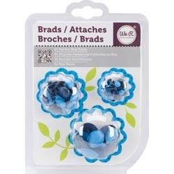 WeR Memory Keepers GANCHITOS MARIPOSA (BRADS) para Scrapbooking - Color: AZUL - comprar online
