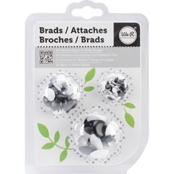 WeR Memory Keepers GANCHITOS MARIPOSA (BRADS) para Scrapbooking - Color: BLANCO Y NEGRO - comprar online