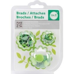WeR Memory Keepers GANCHITOS MARIPOSA (BRADS) para Scrapbooking - Color: VERDE