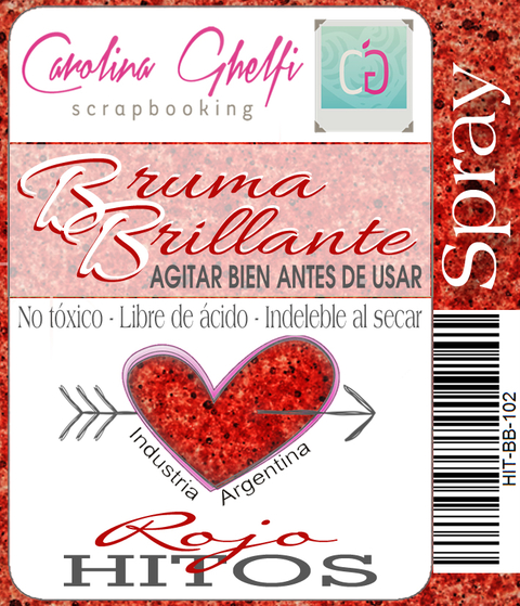 Bruma Brillante  ROJO HITOS   [HIT-BB-102] - comprar online