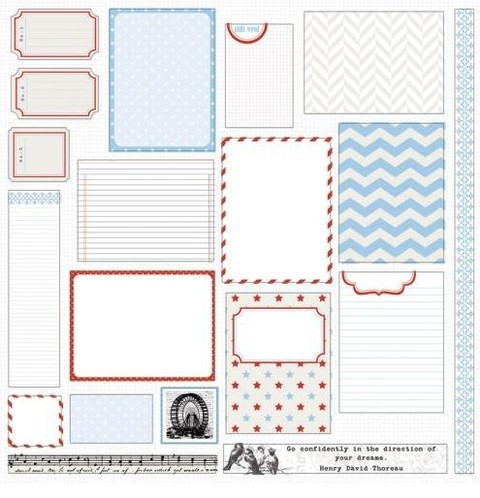 Teresa Collins - Stationery Noted: 12x12 Plancha de troqueles bifaz
