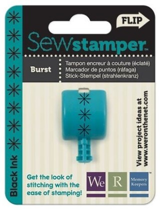 WeR Memory Keepers.  SEW STAMPER - BURST