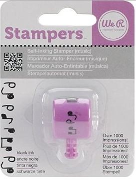 WeR Memory Keepers.  Sello rotativo pre-entintado Sew Stamper MUSIC