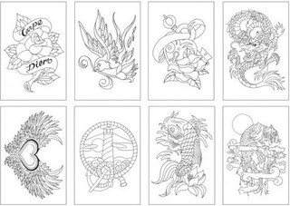 Tarjetas para colorear TOTALLY TATTOO [CC0104] en internet