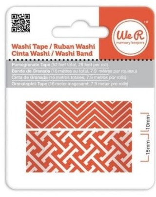 WeR Memory Keepers.  Cinta decorada  Washi Tape ROJA