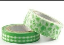 WeR Memory Keepers.  Cinta decorada  Washi Tape VERDE en internet