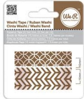WeR Memory Keepers.  Cinta decorada  Washi Tape HAZELNUT
