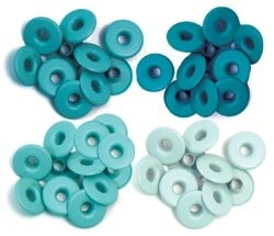 WeR Memory Keepers OJALILLOS ANCHOS para Scrapbooking - Color: AQUA (TURQUESA)