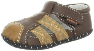 Sandália de Couro pediped Originals Aaron (Brown) - comprar online