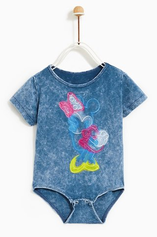 Camiseta/Body Minnie Mouse Zara London