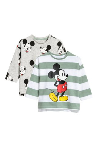 Kit 2 Camisetas Mickey Mouse H&M London - comprar online