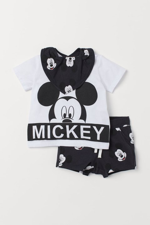 Kit 3 Peças Mickey Mouse for H&M London