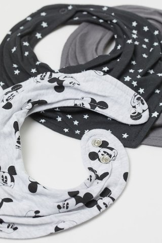 Kit 3 Babadores Mickey Mouse H&M London