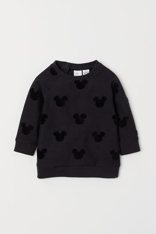 Blusa Manga Longa Mickey Mouse for H&M London (várias cores)